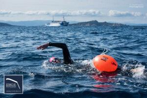 Damien Catani crossed the Strait of Bonifacio