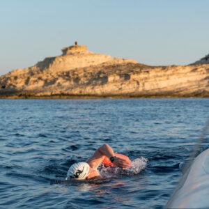 Mariani Dario crossed the Strait of Bonifacio
